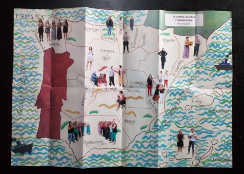 Mapa cancionero de De coros, danzas y desmemoria